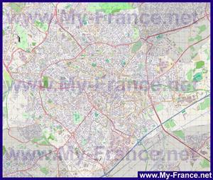 Подробная карта города Монпелье
