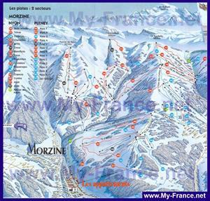 Карта горнолыжных трасс Морзина