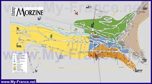Подробная туристическая карта курорта Морзин