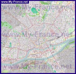 Подробная карта города Нант