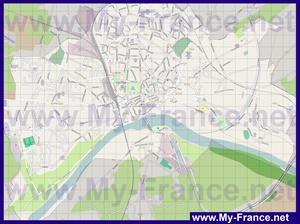 Подробная карта города Невер