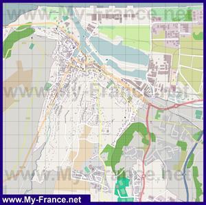 Подробная карта города Онфлёр