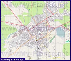 Подробная карта города Отён