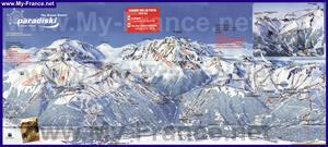 Подробная карта горнолыжного курорта Парадиски