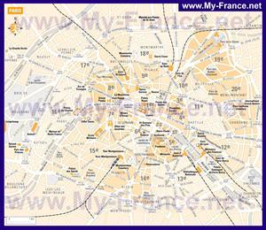 Карта парижа по округам