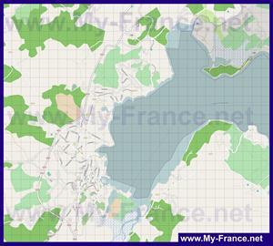 Подробная карта города Порто-Веккьо