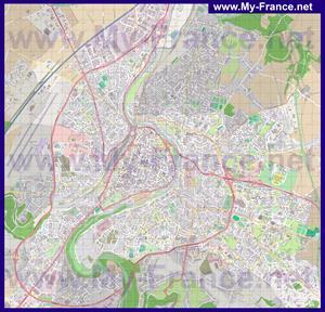 Подробная карта города Пуатье