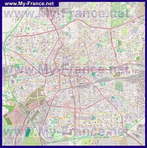 Подробная карта города Ренн