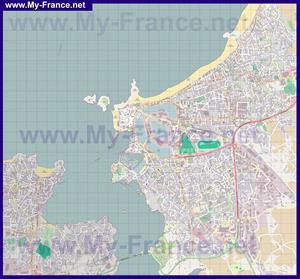 Подробная карта города Сен-Мало