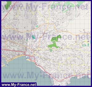 Подробная карта города Сен-Рафаэль
