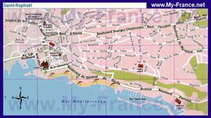 Туристическая карта Сен-Рафаэля