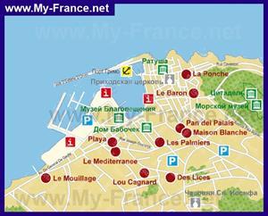 Карта отелей Сен-Тропе