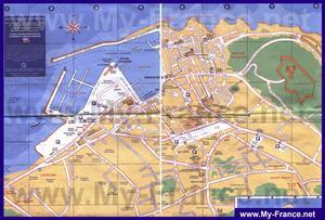 Подробная карта города Сен-Тропе