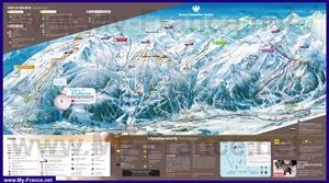 Подробная карта горнолыжного курорта Серр-Шевалье