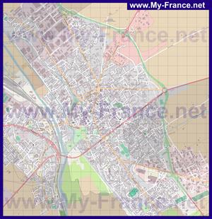 Подробная карта города Шалон-ан-Шампань