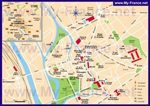Туристическая карта Шалон-ан-Шампани с достопримечательностями