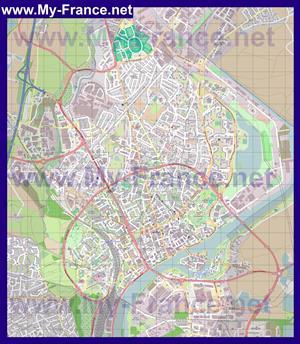 Подробная карта города Шалон-сюр-Сон