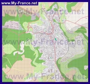 Подробная карта города Шомон