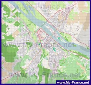 Подробная карта города Сомюр