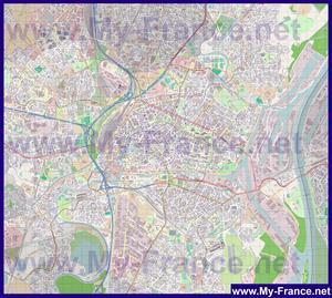 Подробная карта города Страсбург