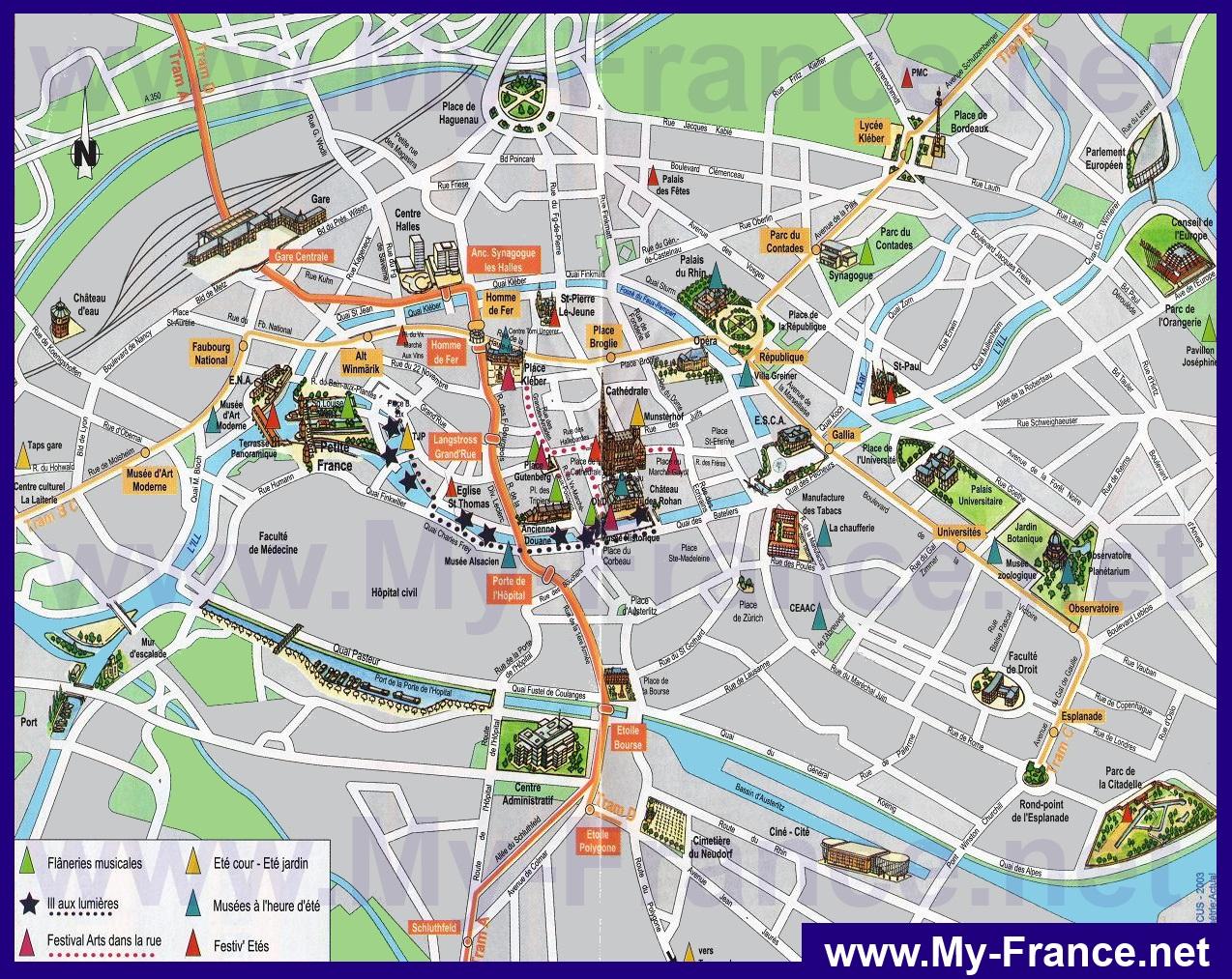 Karta Strasburga Podrobnaya Karta Goroda Strasburg S