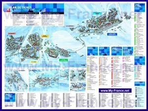 Подробная туристическая карта курорта Тинь
