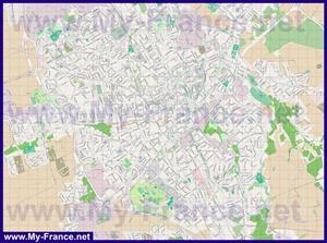 Подробная карта города Труа