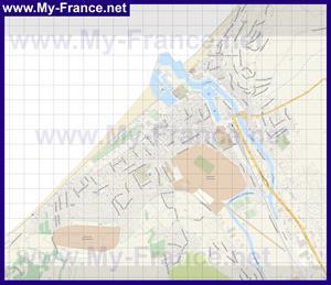 Подробная карта города Трувиль