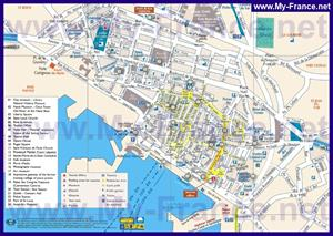 Туристическая карта Тулона