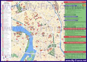 Карта достопримечательностей Тулузы