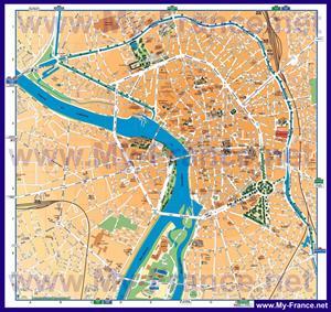 Подробная туристическая карта города Тулуза