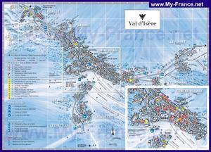Подробная туристическая курорта Валь-д'Изер