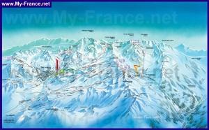 Карта горнолыжных трасс курорта Валь Торанс