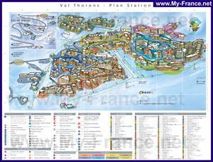 Подробная туристическая карта курорта Валь Торанс с отелями