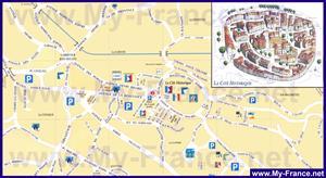 Подробная туристическая карта города Ванс