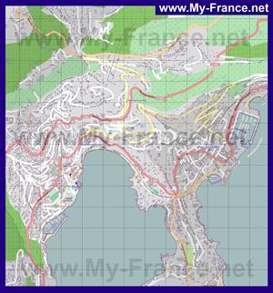 Подробная карта города Вильфранш-Сюр-Мер