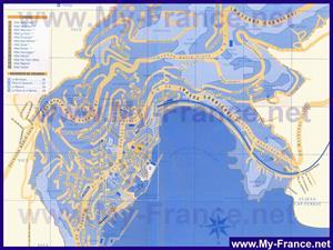 Туристическая карта Вильфранш-Сюр-Мера с отелями