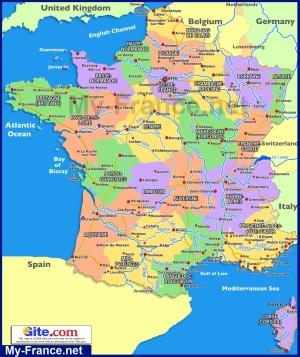 Карта Франции по регионам