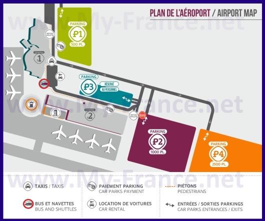 Схема аэропорта Бове