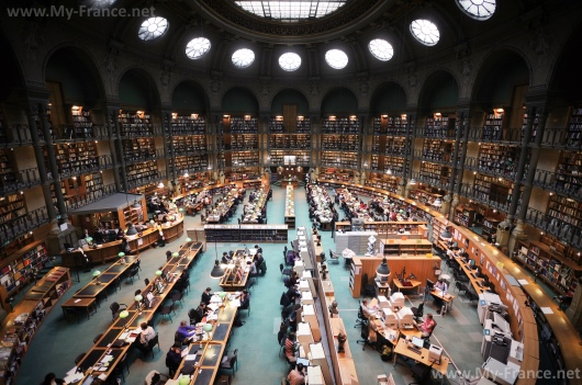 Национальная библиотека Франции. Читальный зал.