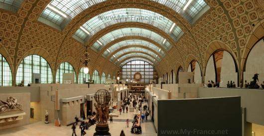 Главный зал музея Орсэ