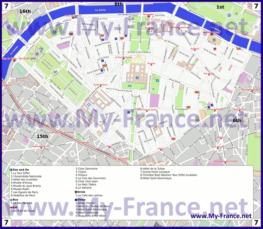 Карта 7 округа Парижа