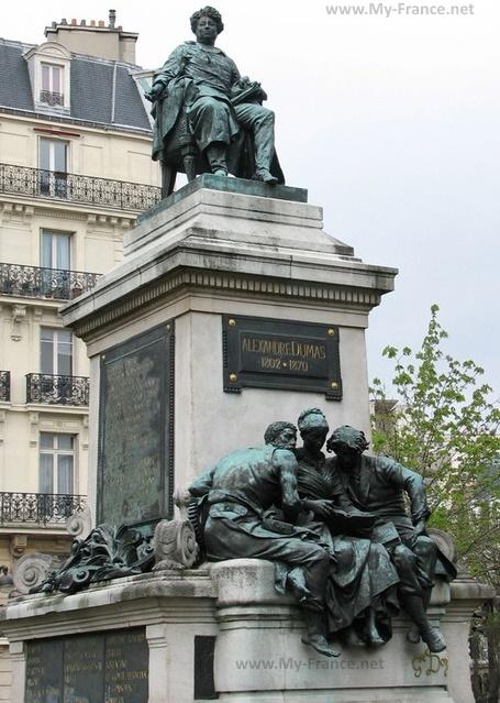Памятник в честь Дюма-отца и Дюма-сына