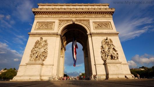 Триумфальная арка на Площади Шарля де Голля в Париже