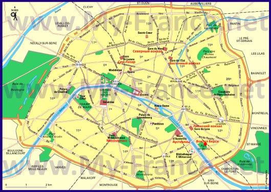 Вокзалы Парижа на карте